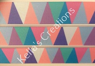 """Pattern Grosgrain Ribbon 7/8"""" Sold by 2 M -Craft - Hair bows -Dummy Clips"""