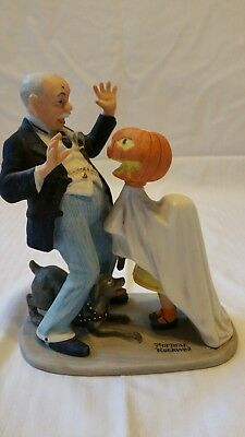 """Norman rockwell figurine, """" Trick or treat """"."""