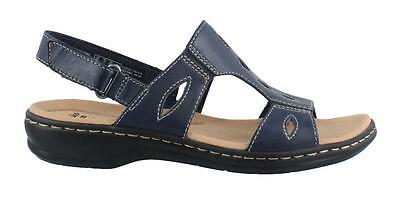 Clark' s Women's  Collection- NEW WITHOUT A BOX- Cushioned Navy Blue Sandals-9M
