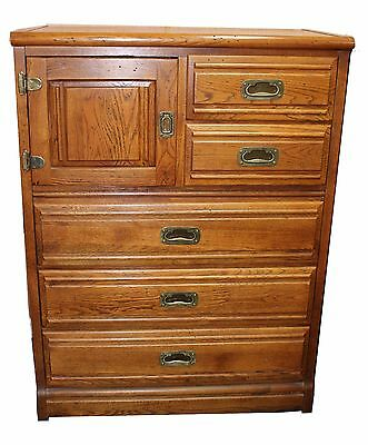 Vintage Oak Young & Hinkle Gentleman's Chest, Outrigger Collection