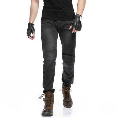 Motorcycle Pants Slim Jeans For Riding Racing Built-in Pads Protective Trousers