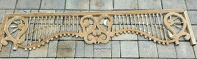 Gingerbread fretwork trim carved oak pediment stick & ball spindle salvage   64""