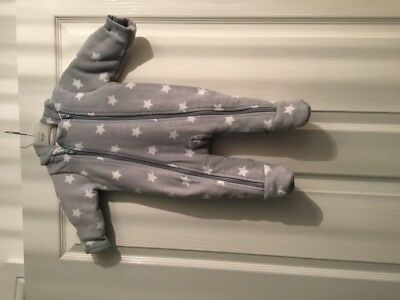 Marks And Spencer Snow Suit In Gey With White Stars Age 0-3 Months