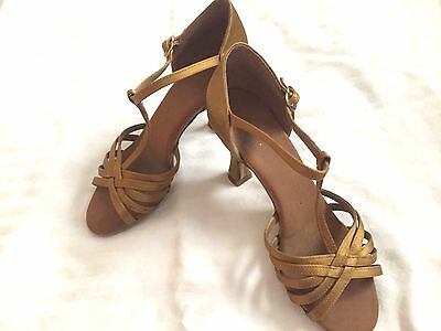 2.5 Inch Fred Astaire T-Strap Latin Ballroom Shoes Size 6.5/7