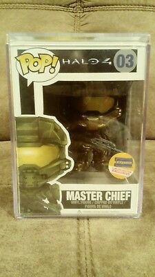 Master Chief Halo 4 Pop Funko Blockbuster Exclusive with Pop Protector