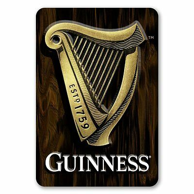 Guinness 3D Harp Wall Art ~ Bar / Pub Wood Sign ~ New
