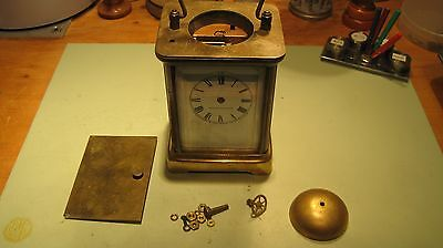 Vintage Waterbury Carriage Clock for parts or repair.
