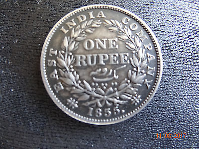 1835 India One Rupee 3/5 Date Error, First Find. Unique-No Other Like It- Au++