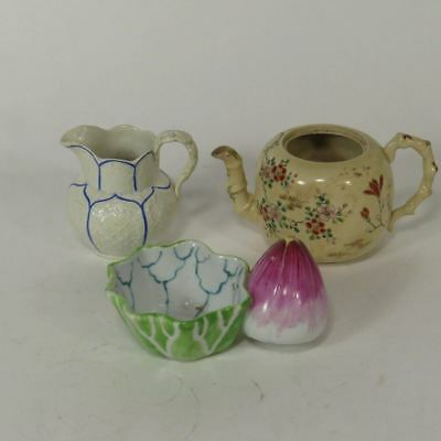20th.c Asian Porcelain Lot 1 Teapot 1 Creamer and a Decorated Bowl