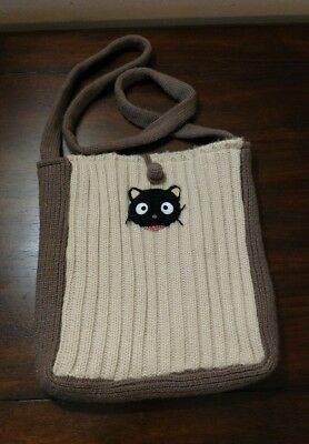 Sanrio Smiles Chococat Cableknit Sweater Lined Purse Shoulder Bag