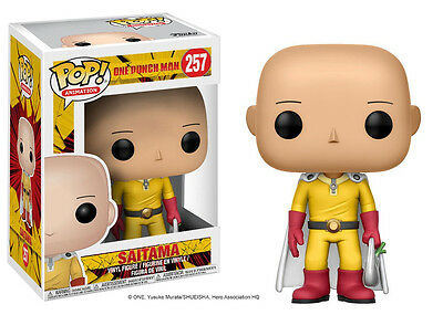 One Punch Man Saitama Pop! Vinyl Figure #257 with key chain
