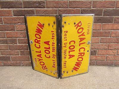Antique Royal Crown Cola two piece sign