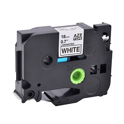 "TZe241 TZ241 3/4"" Black on White Laminated Label tape 18mm For Brother P-Touch"