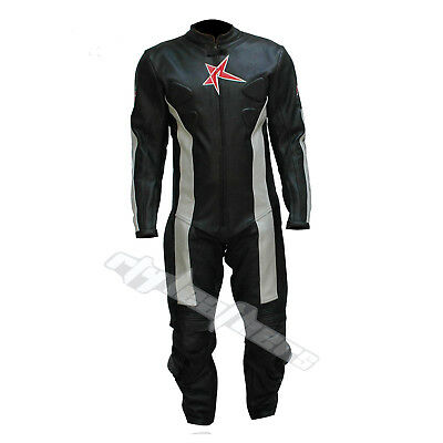Leather Men Motorcycle Motorbike Full Racing Leather Suit MST-017 (US 38,40,42)