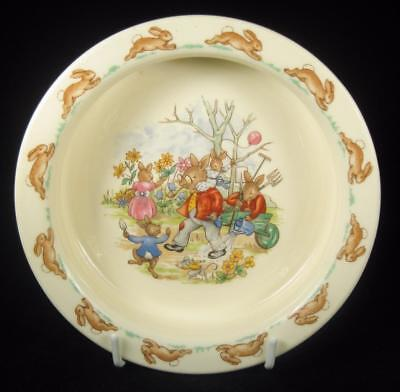Royal Doulton Bunnykins 'Family in the Garden' Baby Bowl 1968-75