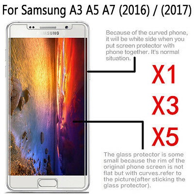 1/3/5x 9H+ Tempered Glass Screen Protector For Samsung Galaxy A3 A5 A7 2016/2017