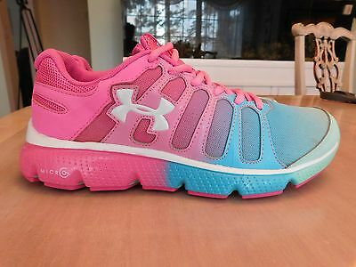 under armour tennis shoes Pink and blue 7y youth