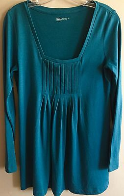Ladies Women's size XS x-small Gap Maternity teal top shirt blouse
