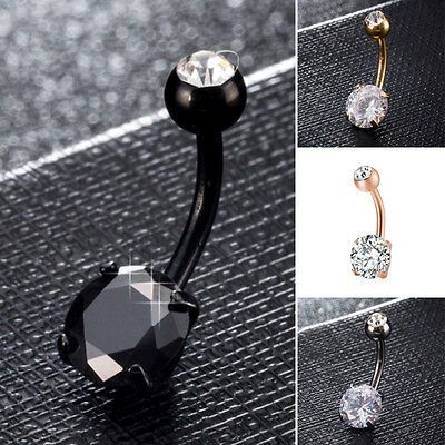 Belly Button Rings Crystal Rhinestone Jewelry Navel Bar Body Piercing Jewelry