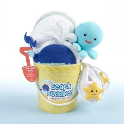 Baby Aspen Beach Buddies 3 Piece Bathtime Bucket Gift Set