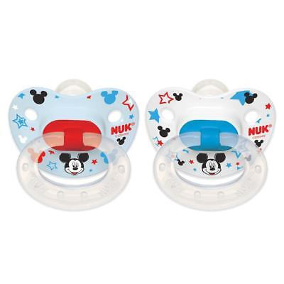 NUK Disney Baby 0-6 Months 2 Pack Silicone Pacifier - Mickey Mouse