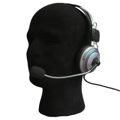 Male Foam Flocking Head Model Headset Wig Display Stand Tool Mannequin Showy