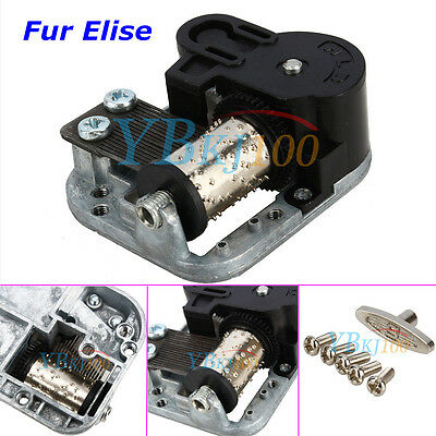 New Wind Up Musical Movements Part with screws For DIY Music Box Fur Elise IS