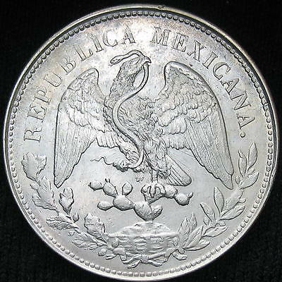 Mexico Cap and Rays 1 Peso 1901 Mo AM silver