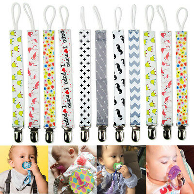 Baby Kids Chain Clip Holders Dummy Pacifier Soother Nipple Leash Strap