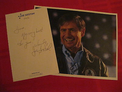 Congressman Joe Sestak signed autographed 8x10 Photo with signed note to James