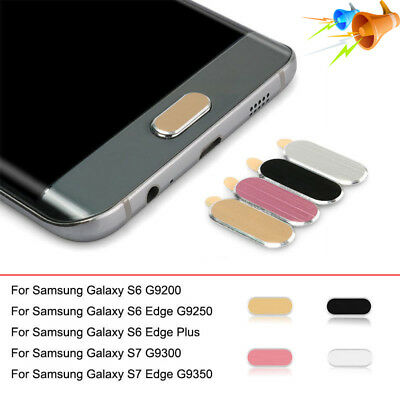Home Button Sticker Metal Protective Case Skin for Samsung Galaxy S6 S7 Edge Lot