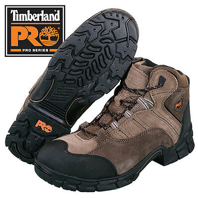 Timberland Pro Brown Leather Steel Toe Hiking Boots - Men's size 10.5