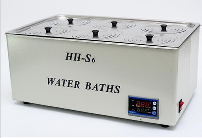 1500W Digital Thermostatic Water Bath 6 Hole 500*300*150mm HH-S6 Fast Shipping