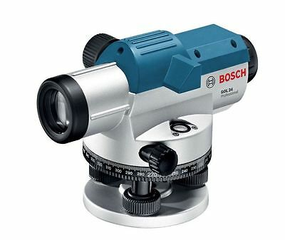 Bosch GOL24 11.75 in. Automatic Optical Level Kit with 24x, 300 Ft / 91M