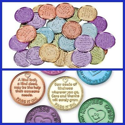 100 x Plastic Kindness Coins Educational Resources