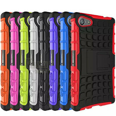 For Sony Xperia Z5 Compact, E5803 Heavy Duty Shock Proof Hybrid Hard Case Cover