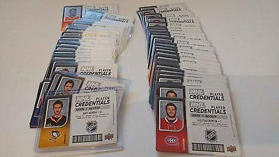2017-18 UD Upper Deck MVP NHL Player Credentials Level 1 Access UPick Lot
