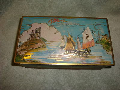 Vintage Vassar Chocolates Normandie Package Tin Box by Canco Castle & Sailboats