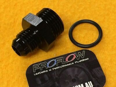 AN8 ORB to AN6 Male JIC port adapter Black -8AN -6AN O'ring 920-06-08 Proflow