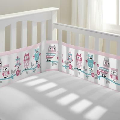 BreathableBaby(R) Classic Breathable(R) Owl Fun Pink Mesh Crib Liner