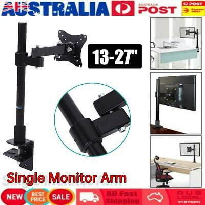 Single HD LED Desk Mount Monitor Arm Stand Display Bracket Holder LCD Screen Top