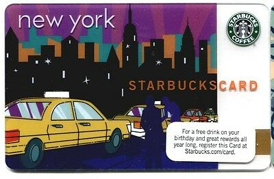 2010 Starbucks NYC NY NEW YORK CITY TAXI Gift Card ~ Series 6059 MINT CONDITION
