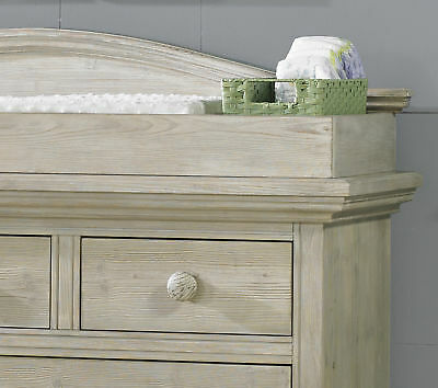 Cosi Bella Luciano Dresser Changing Topper - White Washed Pine