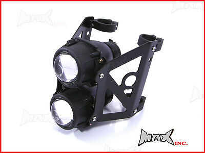 50mm 51mm Dual Stack Motorcycle Streetfighter Projector Headlight Jap Cafe Racer