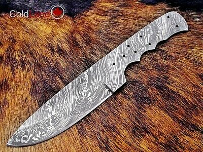 9.25'' Handmade Damascus steel Full Tang Blank Blade Knife Making Supplies SB39