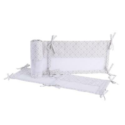 NoJo Mix and Match Grey Diamonds Secure-Me Crib Liner