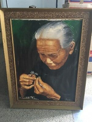 Chinese Lady Painting By Artist Arthur