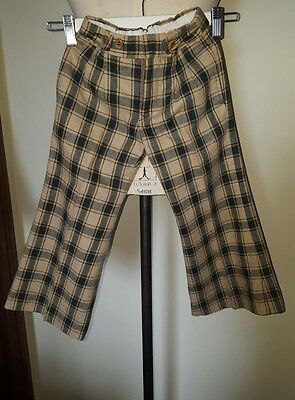 Gumpy'sTrouser tan check Vintage Boys1960 Pants Clothing Australian made wool s4