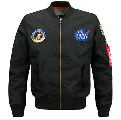2017 Mens Embroidered Nasa Jacket Military Army Flight Bomber Jacket