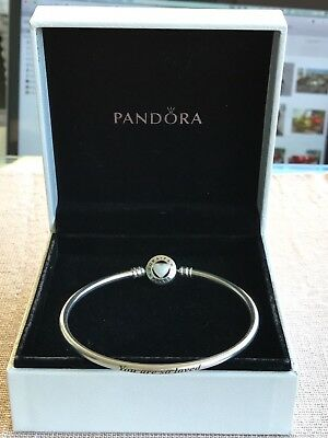 Authentic Pandora Bangle 19 cm (7,5 in) Limited Edition Loving Heart ...retired
